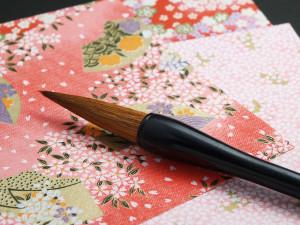 千代紙と筆